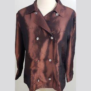 Jaipur Metallic Double Breasted Jacket NWOT